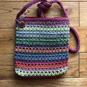 The Sak rainbow colored crossbody purse